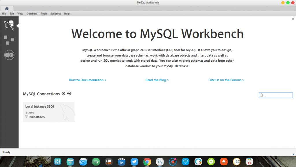 MySql Workbench uso