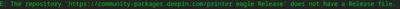 deepin error actualizacion