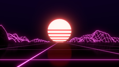 30 309108 first try at a retrowave wallpaperart light